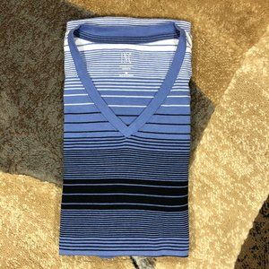 Men's Blue INC Striped Tee, Size Medium